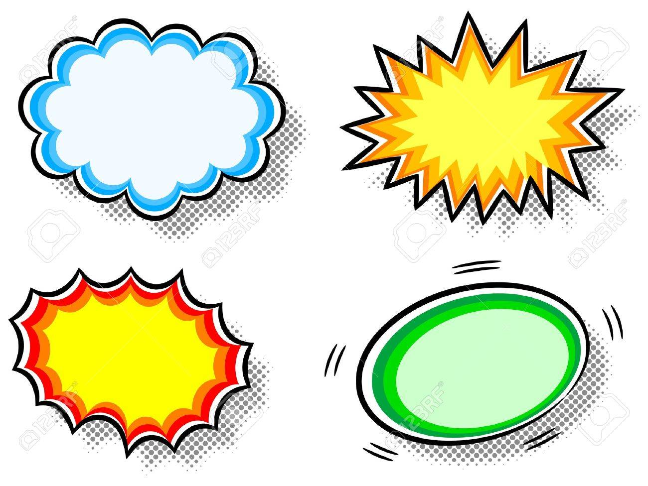 illustration of four colorful effect bubbles Stock Vector - 20550605