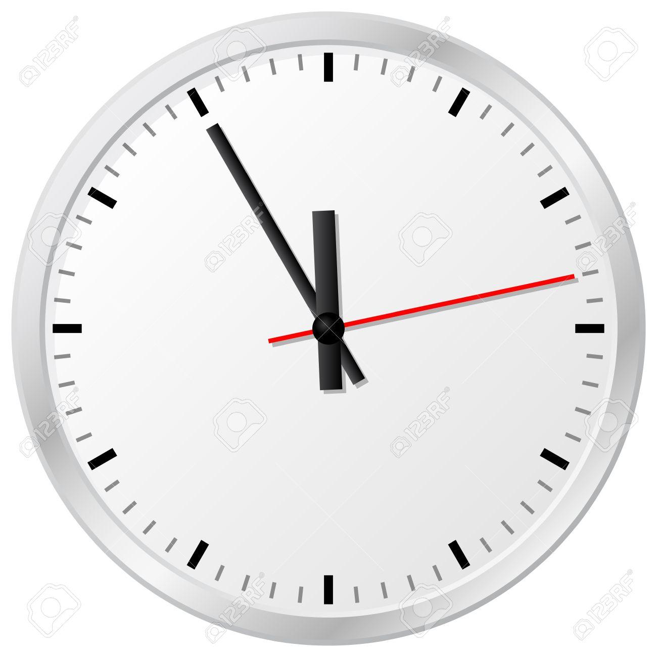 illustration of a plain wall clock in the eleventh hour royalty free rh 123rf com Cute Clock Clip Art Digital Clock Face