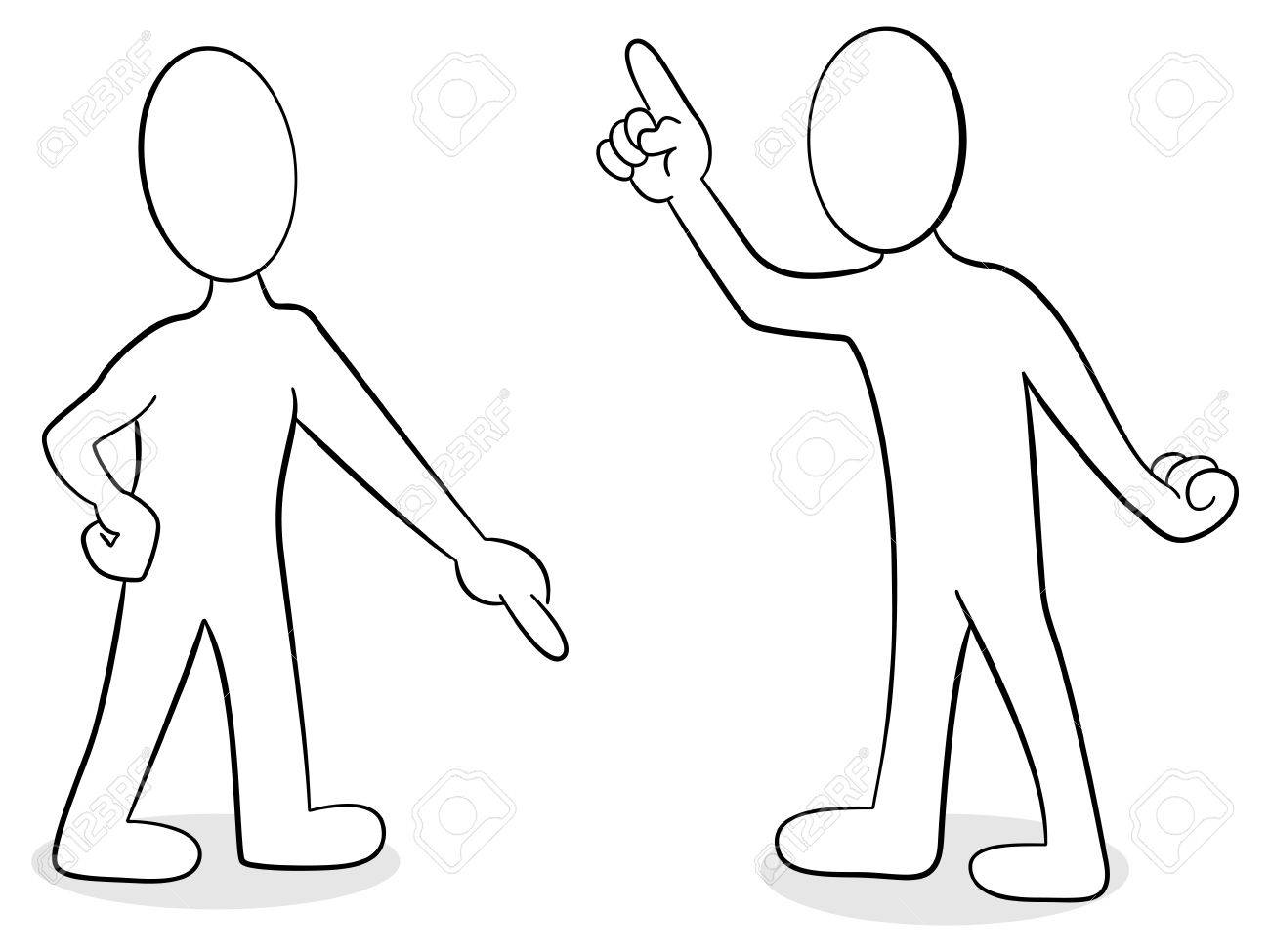 vector illustration of two people are of different opinion Stock Vector - 25996489