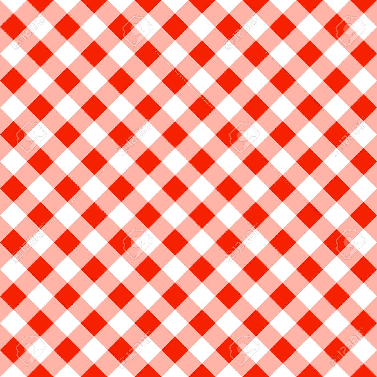 Genial Vector   Vector Illustration Of A Seamless Pattern Of A Red White Plaid  Tablecloth