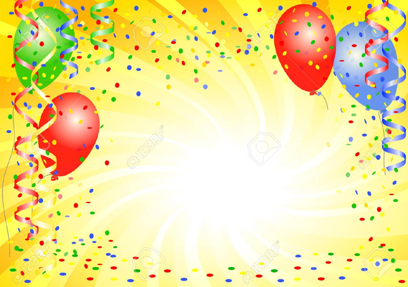 vector illustration of a party background with balloons - 53434437