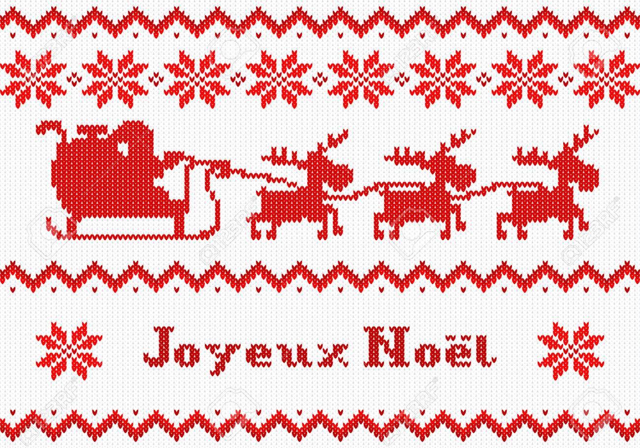 Auguri Di Buon Natale Francese.Illustrazione Vettoriale Di Un Biglietto Di Auguri Di Natale Rosso E Bianco Joyeux Noel Francese Buon Natale