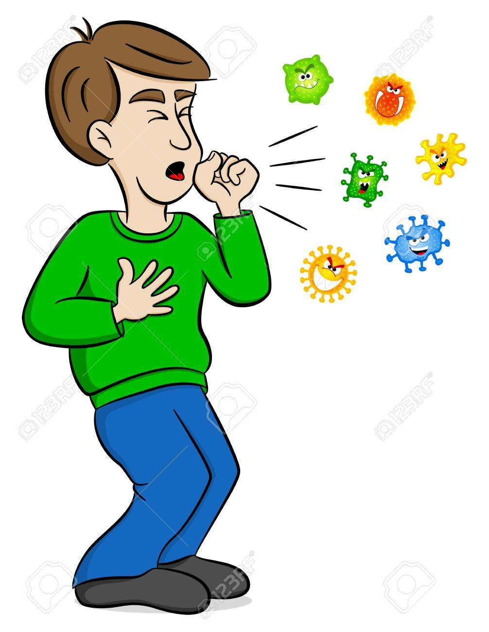 vector illustration of a cartoon man coughing and surrounded royalty free cliparts vectors and stock illustration image 87209789 vector illustration of a cartoon man coughing and surrounded royalty free cliparts vectors and stock illustration image 87209789
