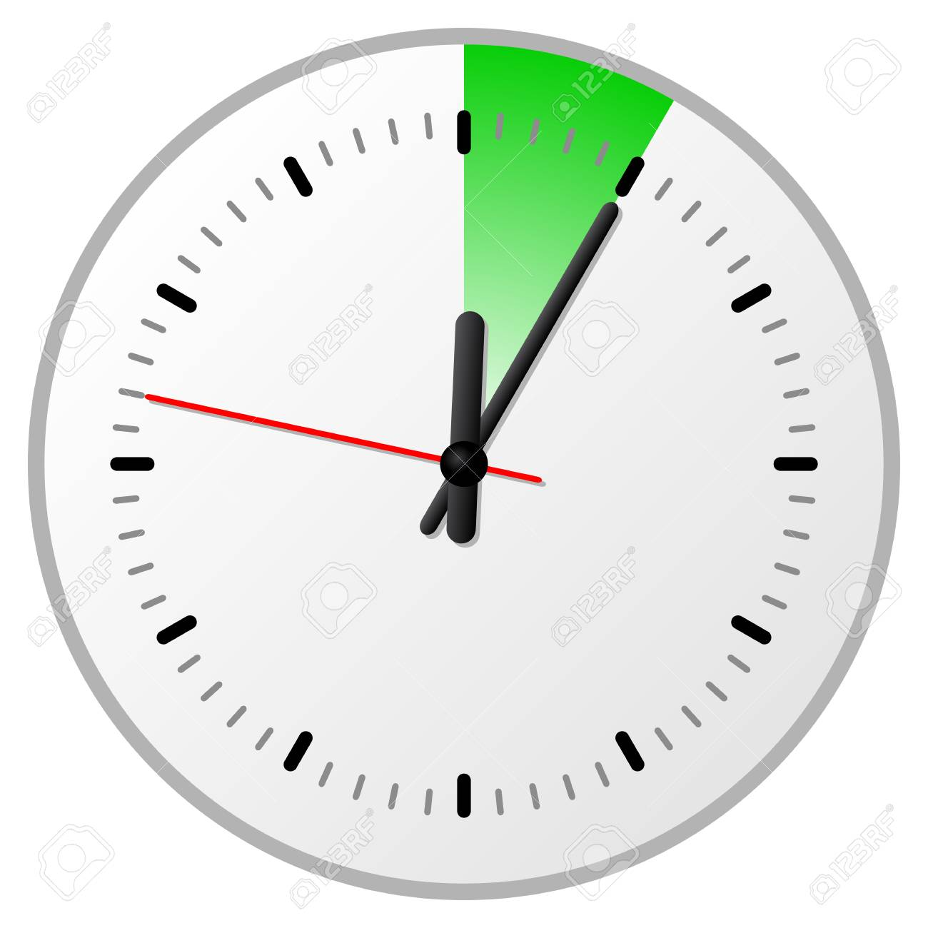 vector illustration of a timer with 5 five minutes royalty free