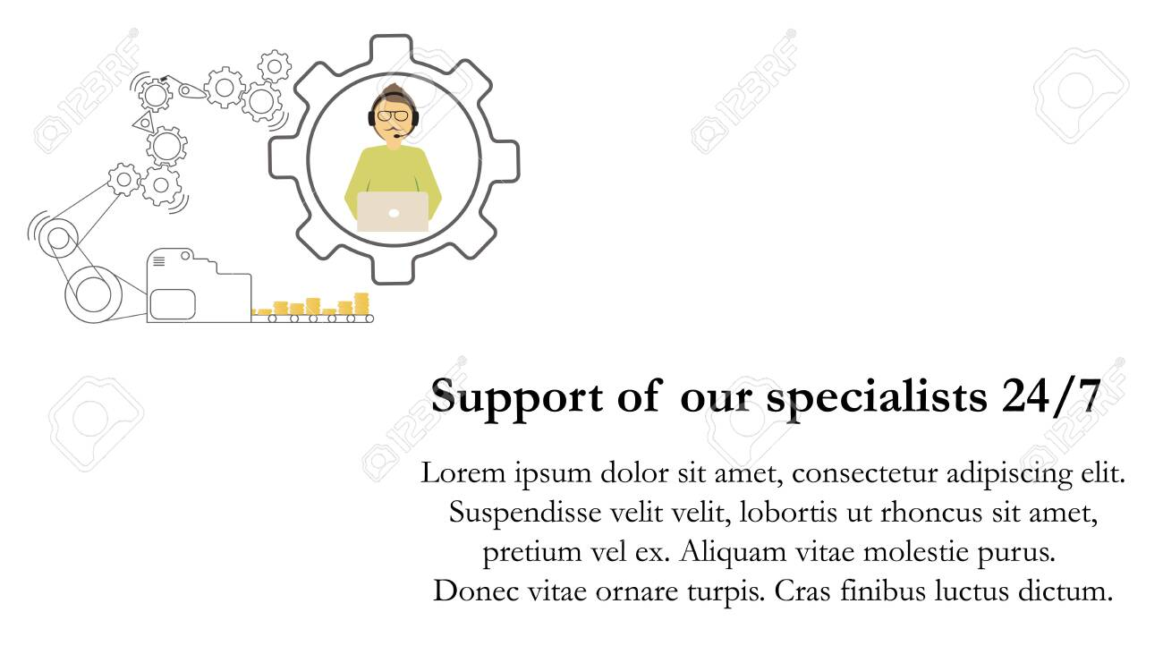 The Technical Support Specialist Communicates With The Client Royalty Free Cliparts Vectors And Stock Illustration Image 134761316