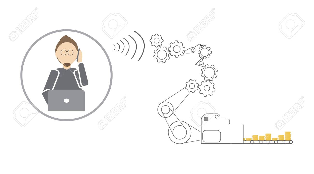 The Technical Support Specialist Communicates With The Client Royalty Free Cliparts Vectors And Stock Illustration Image 134761319