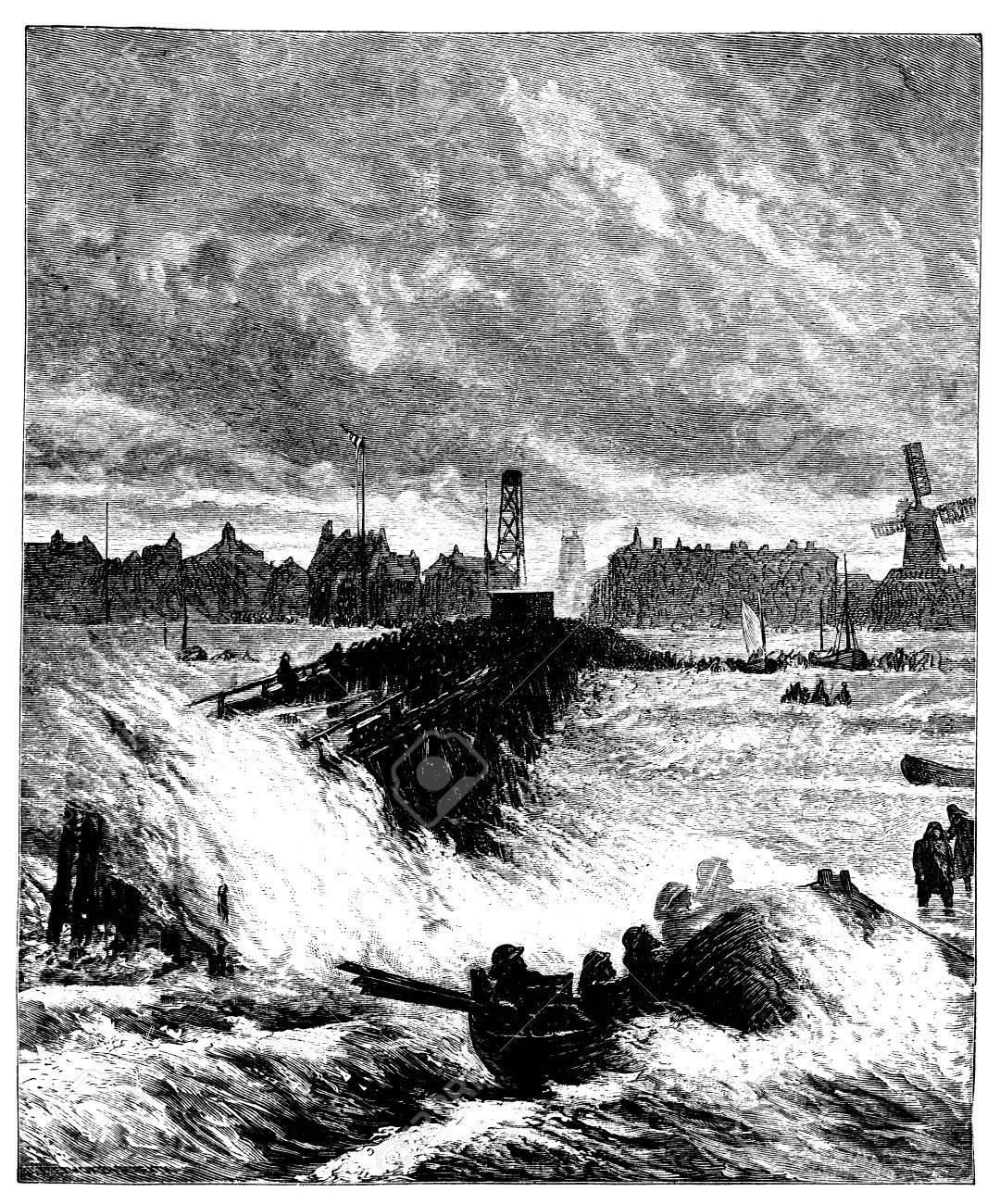 グレート ヤーマス港、ノーフォーク、イギリスの 19 世紀の彫刻 の写真 ...