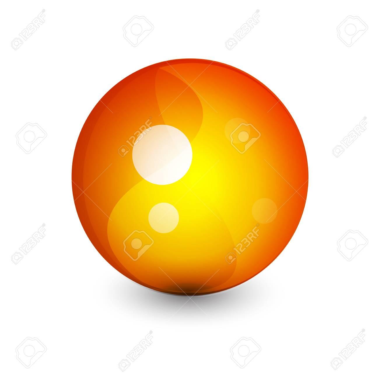 Abstract sphere button Stock Vector - 9988328