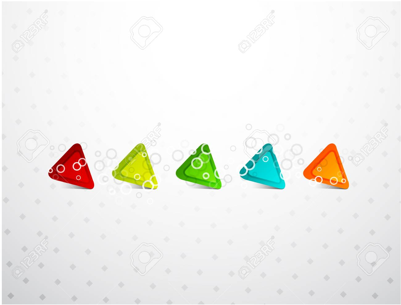 five colored triangle background Stock Photo - 9988268