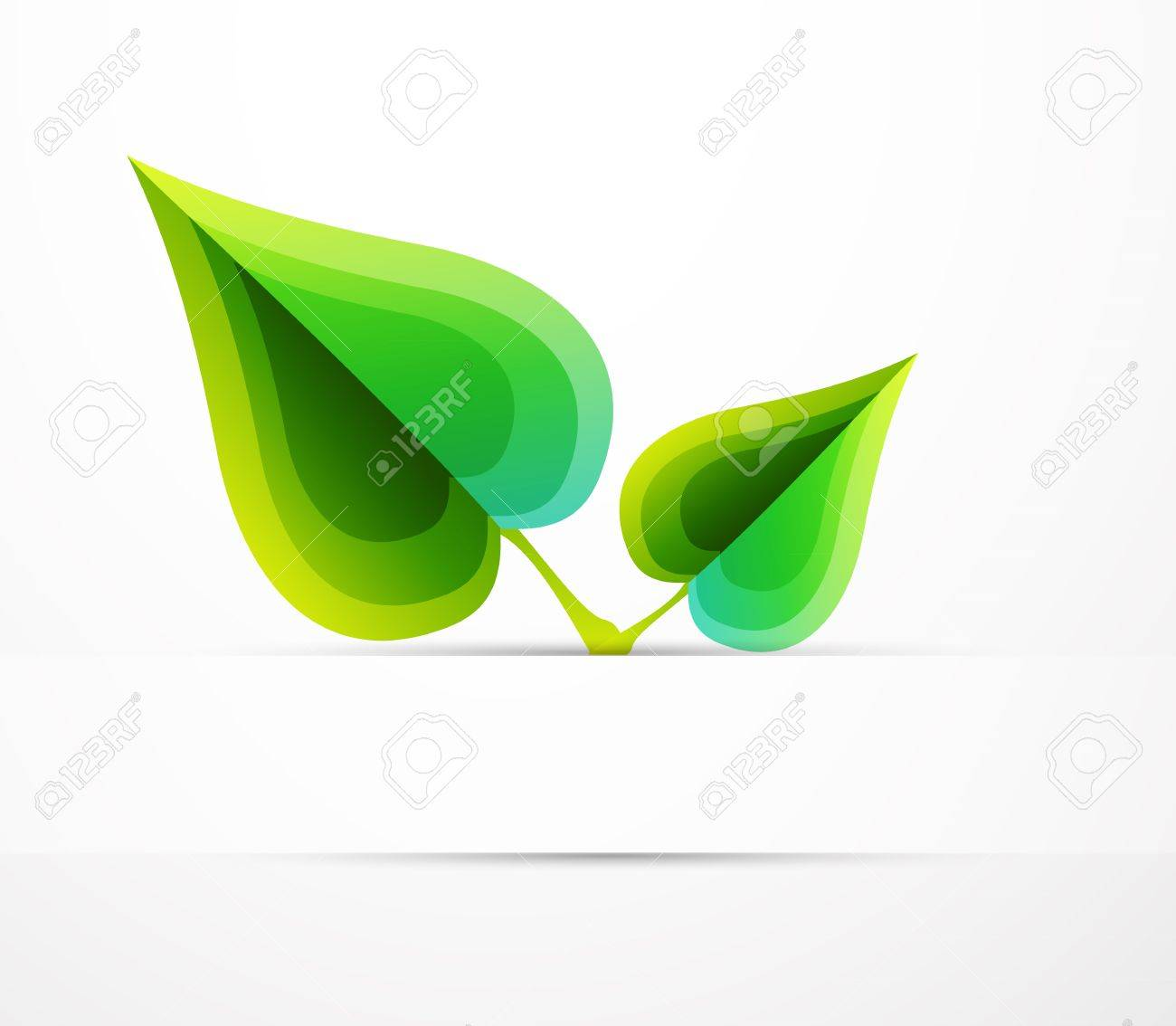 Vector leaf concept. Nature abstract symbol Stock Photo - 10285894