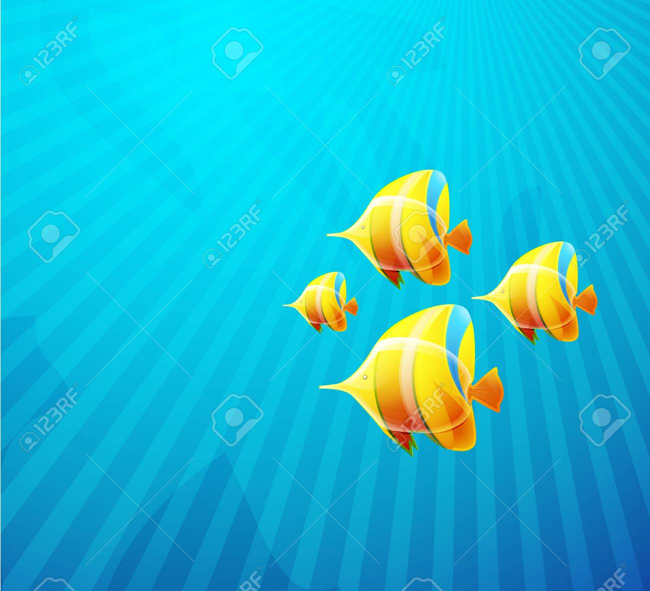 Tropical fish in water Stock Photo - 10455487