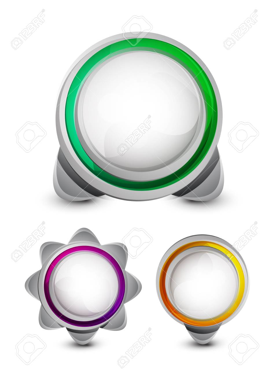 Vector abstract glossy buttons Stock Photo - 10455519