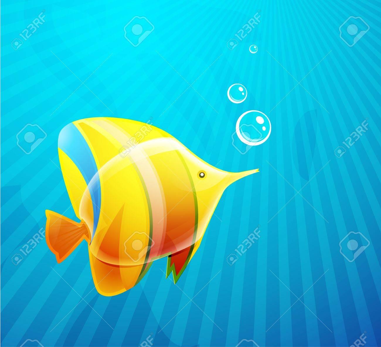 Tropical fish in water Stock Vector - 10455608