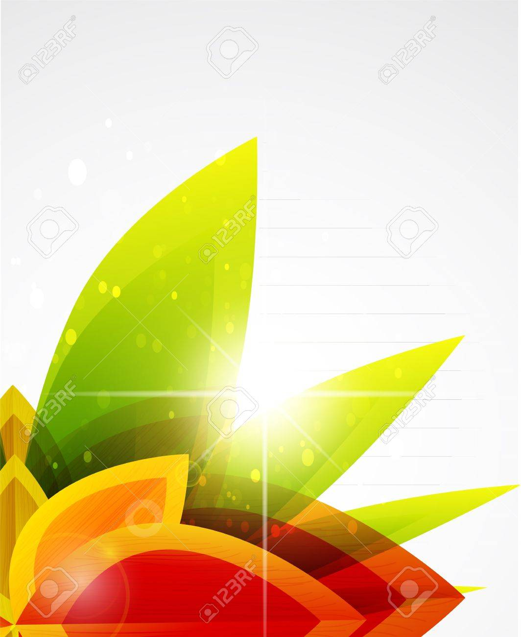 Vector abstract autumn leaf background Stock Vector - 10475921