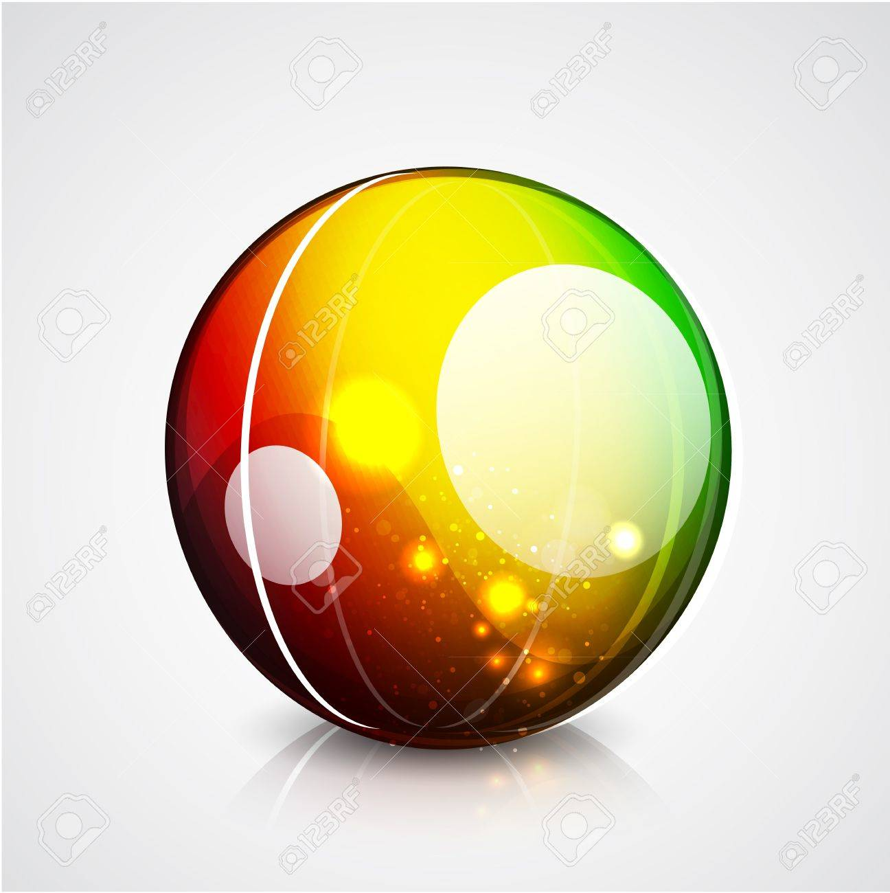 Vector glossy sphere colorful background Stock Vector - 10475912