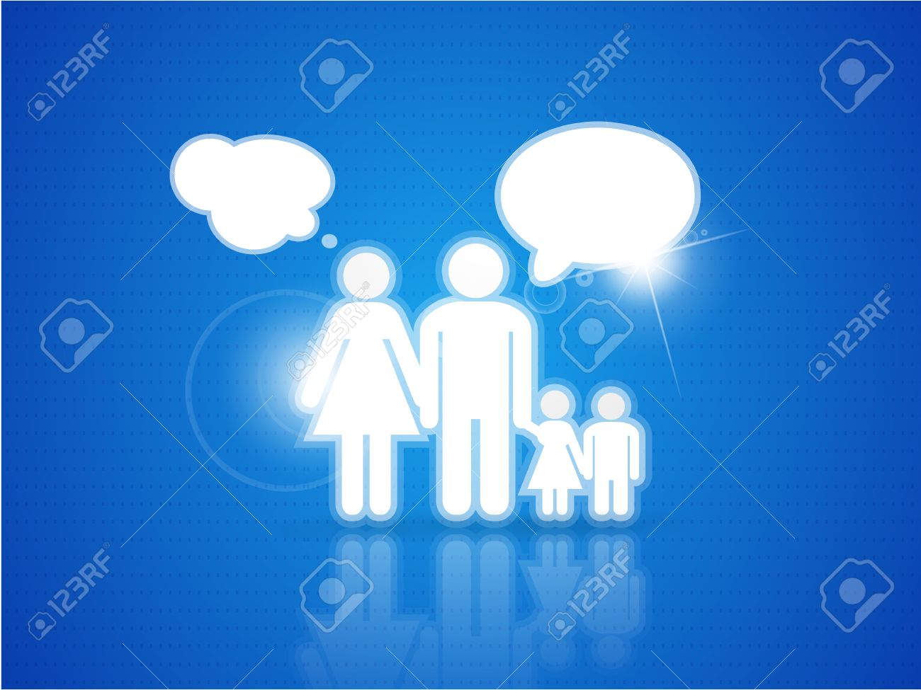 Family background Stock Vector - 10491791