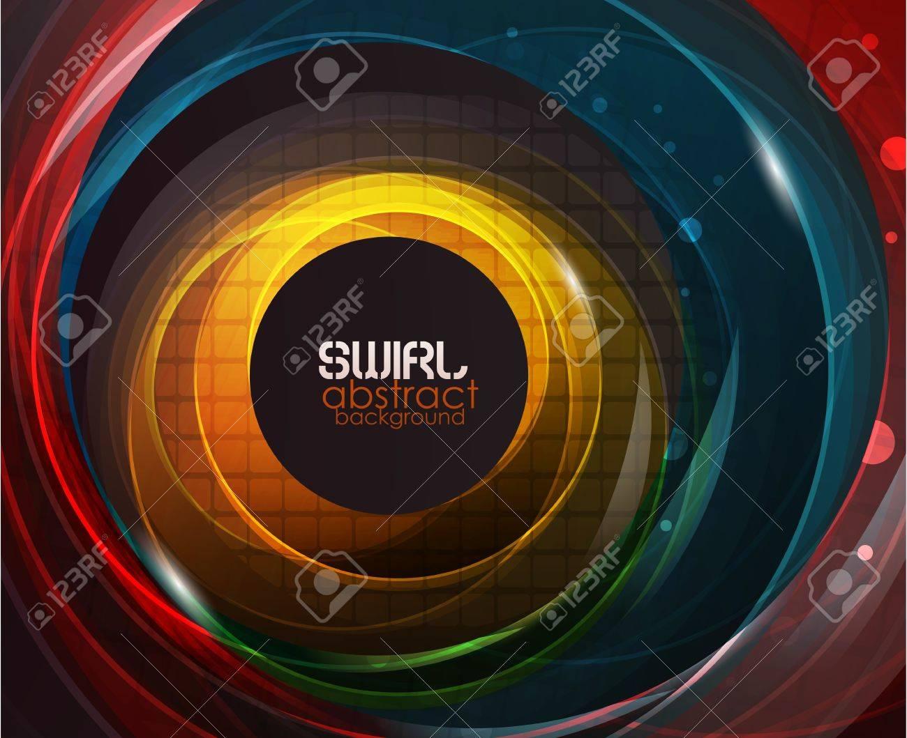Swirl vector abstract background Stock Vector - 10658337