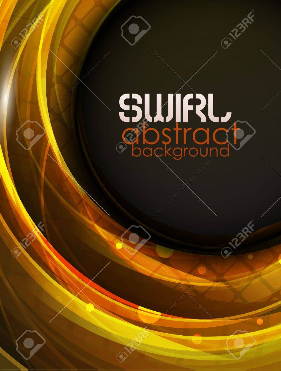 Swirl abstract background Stock Vector - 10683745