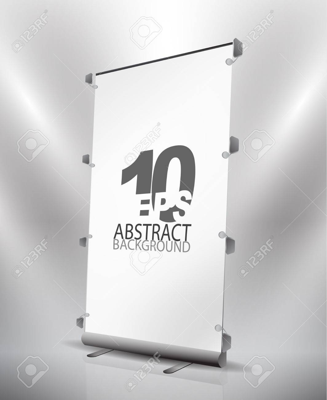 Vector expanding banner stand Stock Vector - 10799563