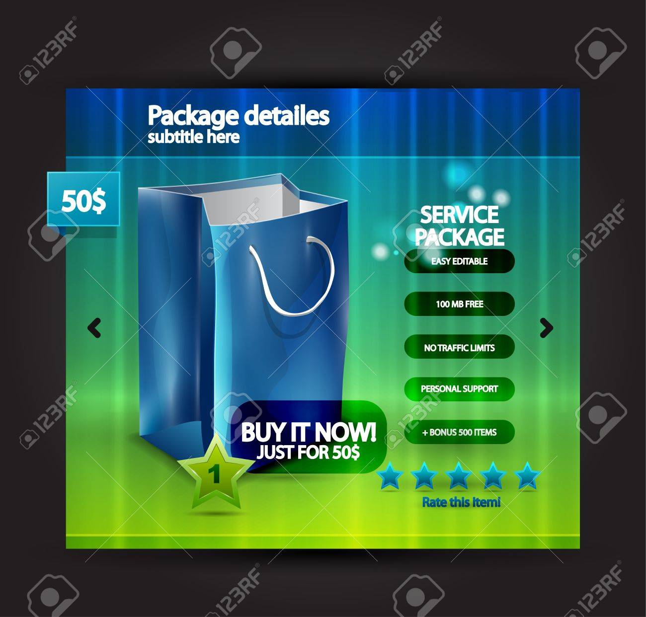 Vector web selling product page Stock Vector - 11224736