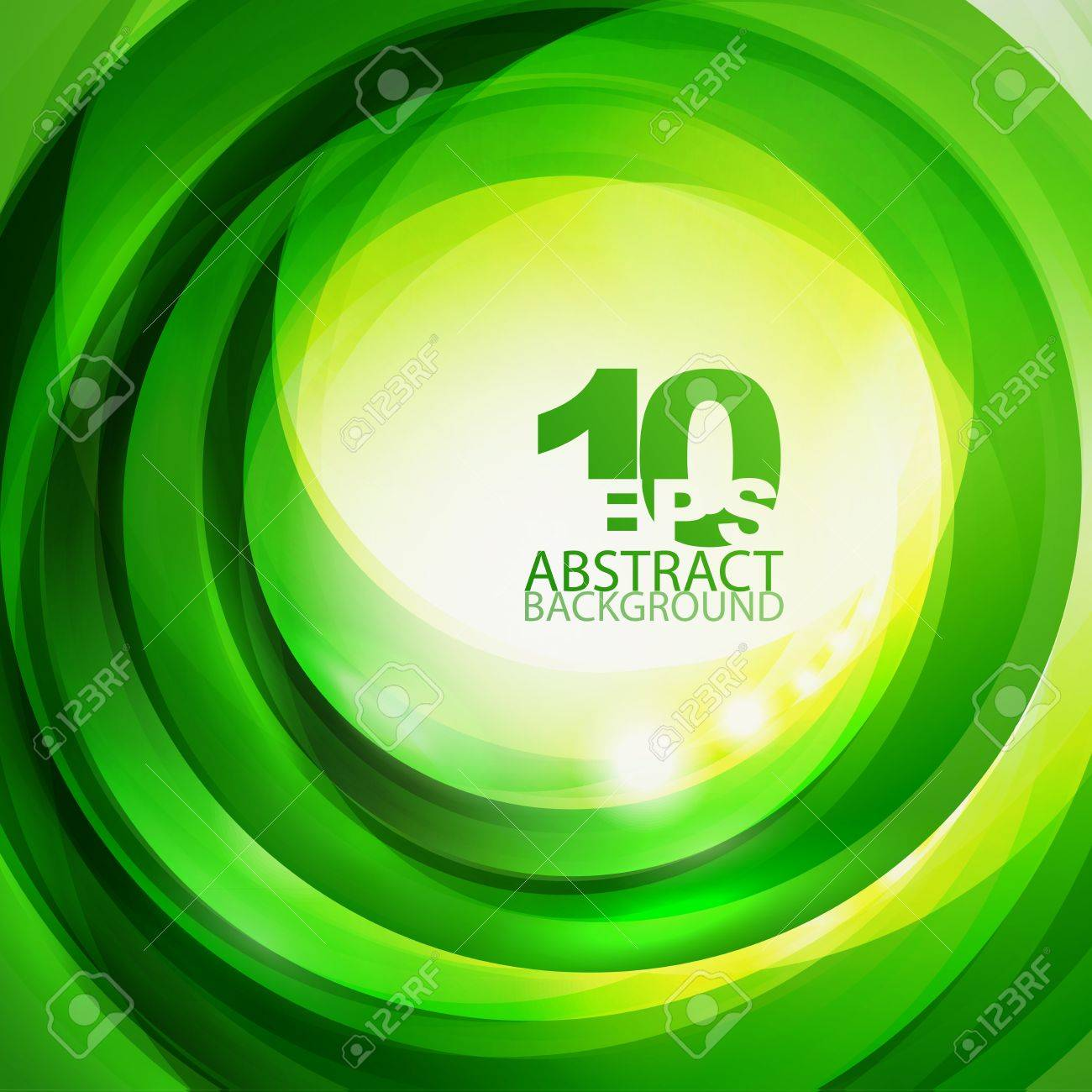 Green bright swirl background Stock Vector - 12491391