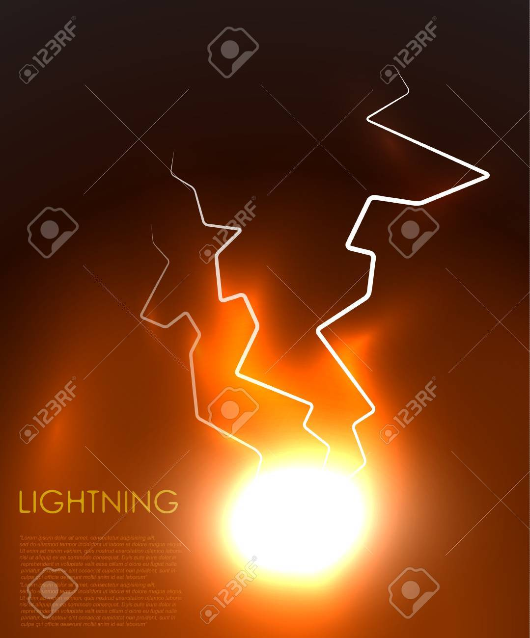 abstract lighning background Stock Vector - 12493645