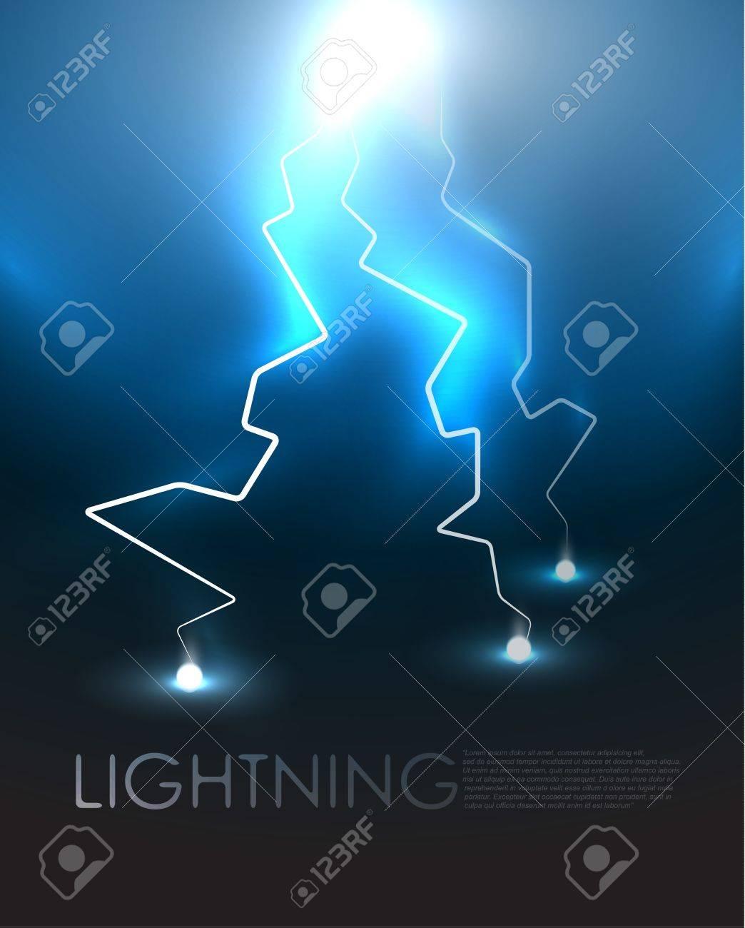 Lightning background Stock Vector - 12493657