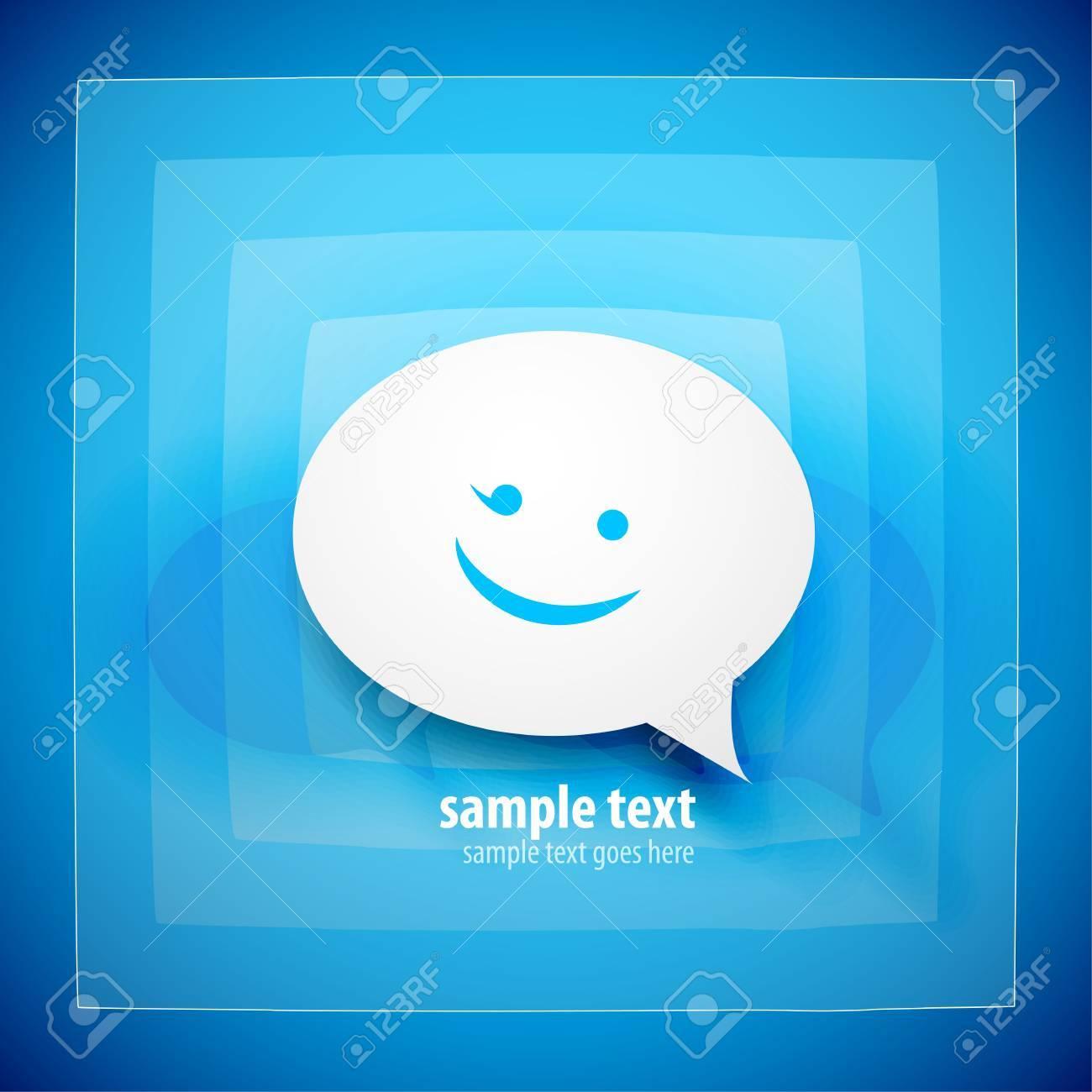 Blue speech bubble background Stock Photo - 12501866