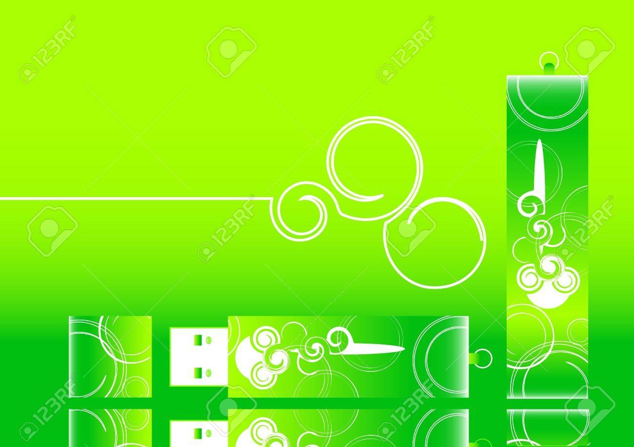Vector green usb background Stock Vector - 13190934