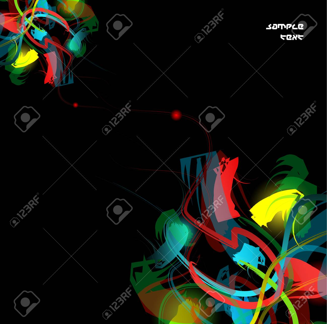 Dark abstarct colorful background Stock Vector - 13237536