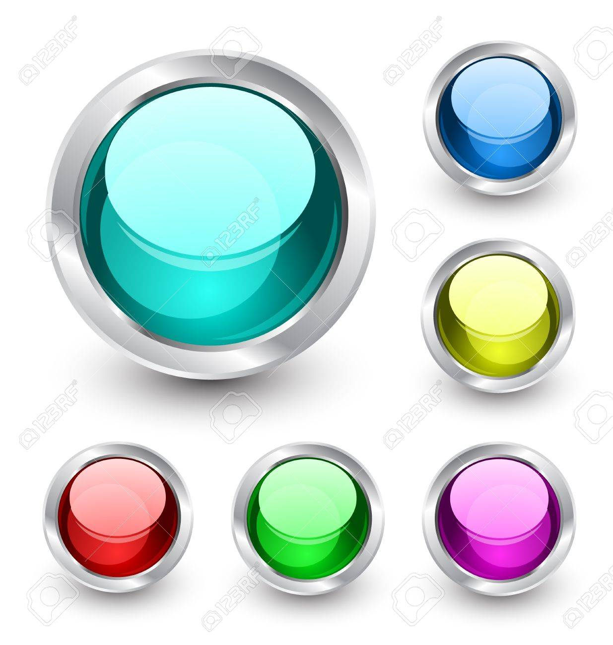 Vector glass buttons Stock Vector - 13237484