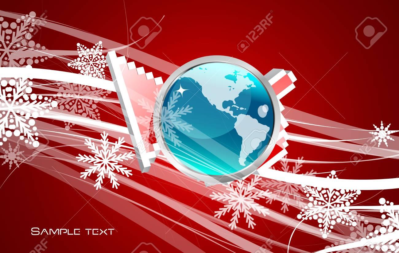 Hi-tech hand pointer background Stock Vector - 13269912