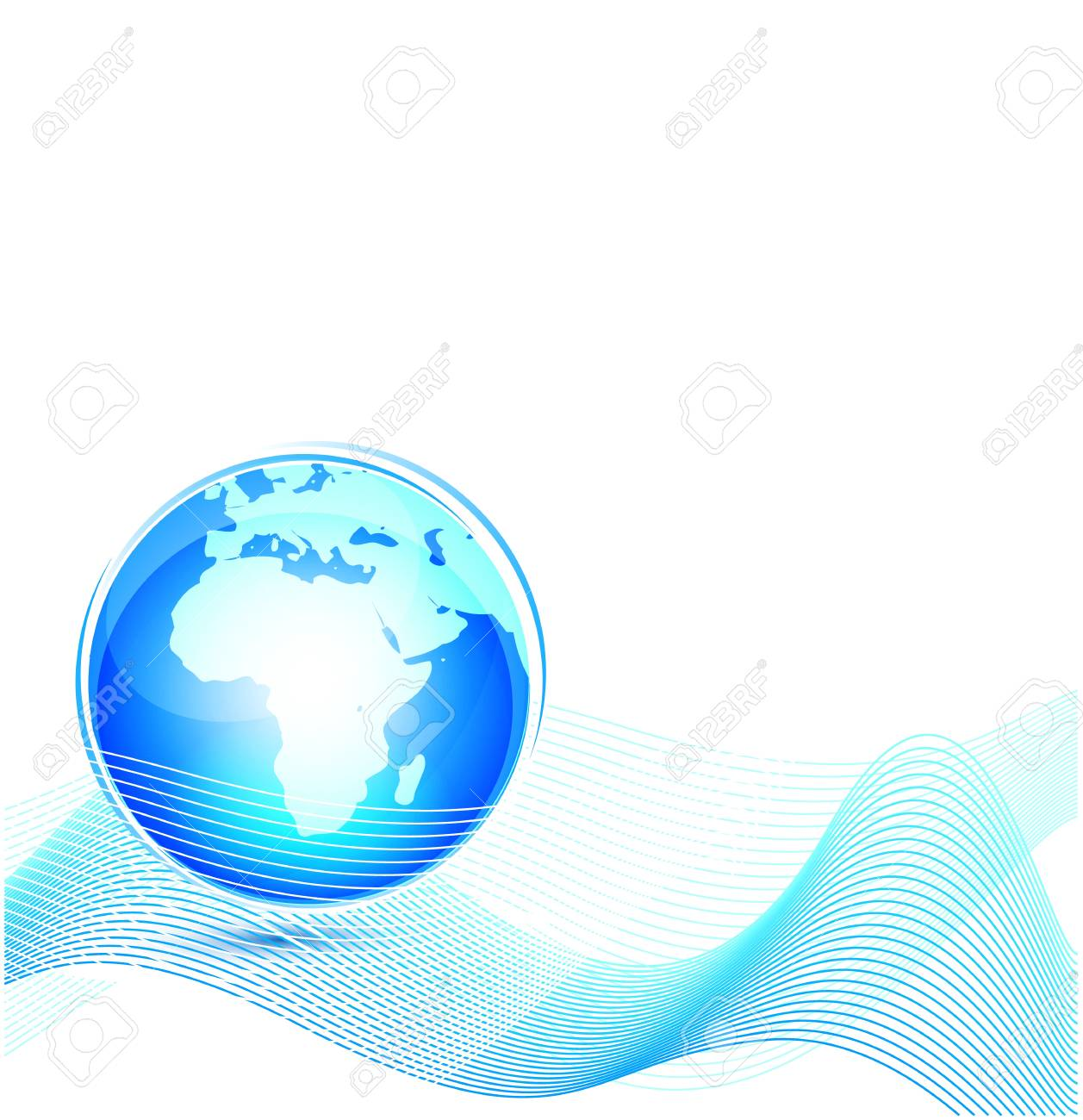 Technology world abstract background Stock Vector - 13269973
