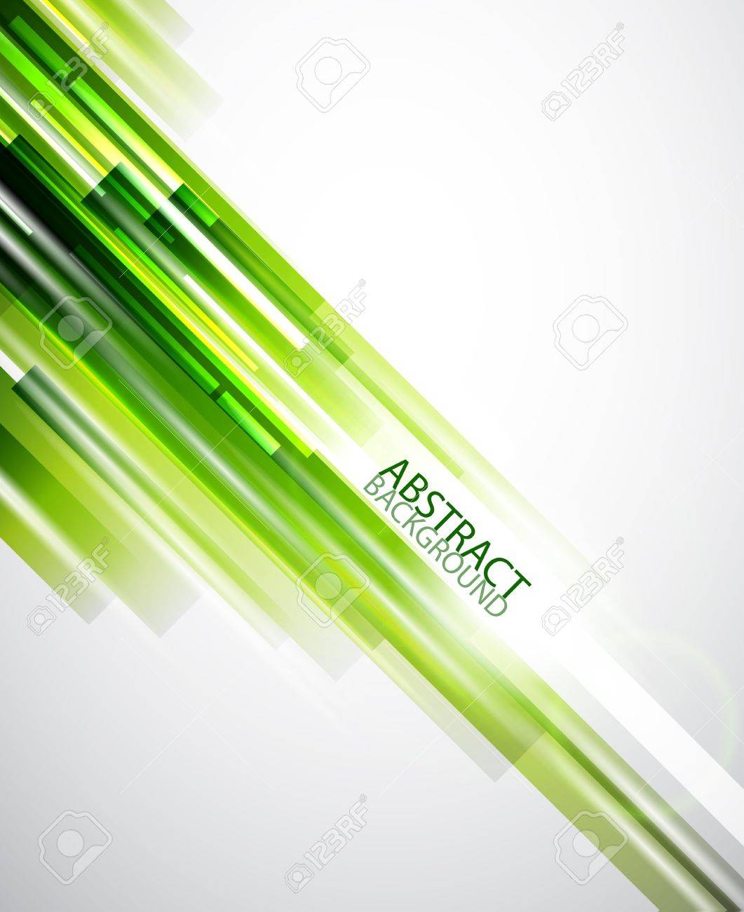 Abstract green lines background Stock Vector - 13400806