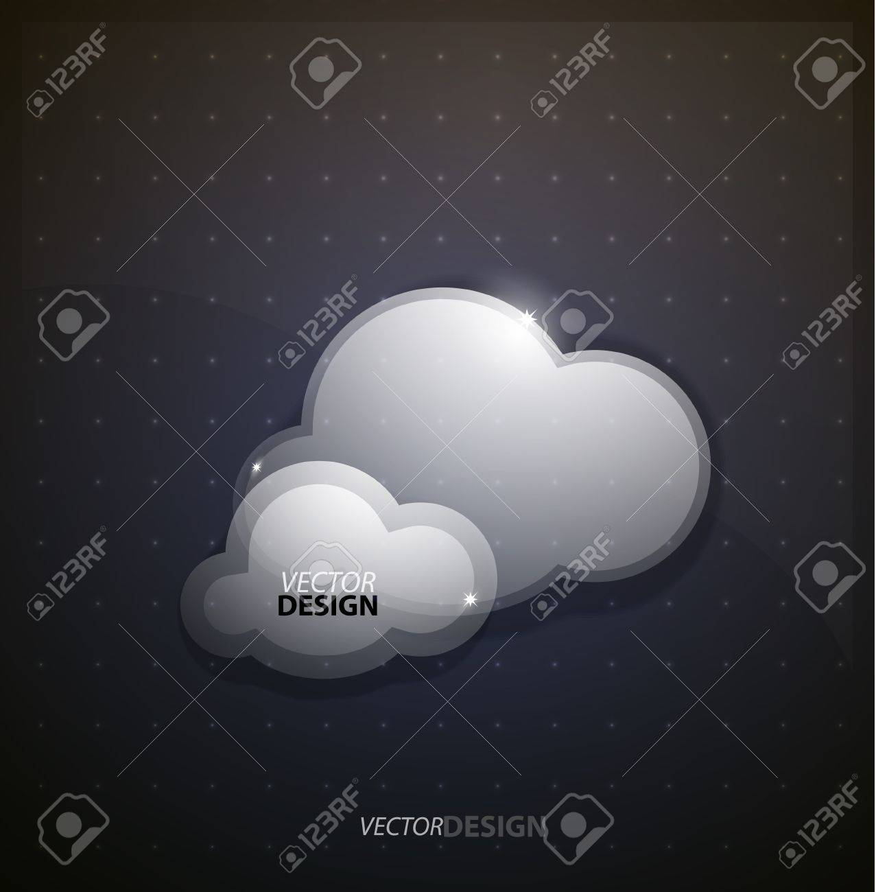 Techno clouds background Stock Photo - 13400827