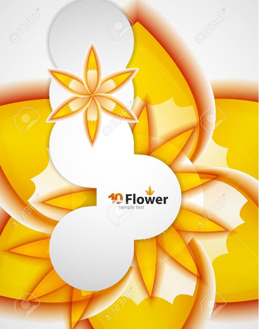 abstract orange flowers background Stock Vector - 13591619