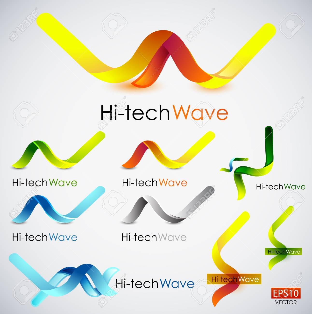 Abstract wave icons Stock Vector - 14314898