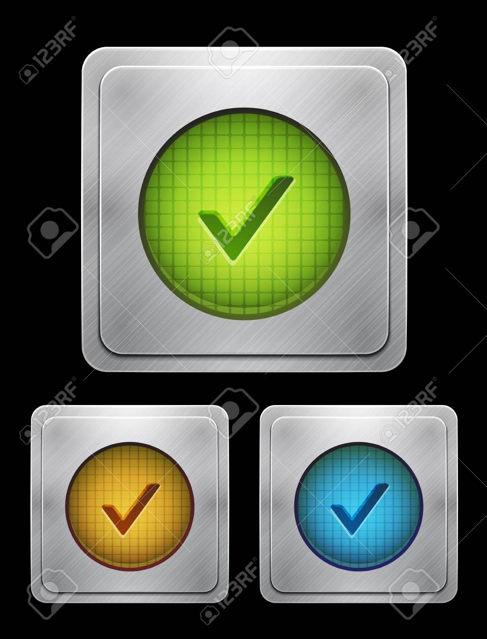 tick phone button Stock Vector - 14402330