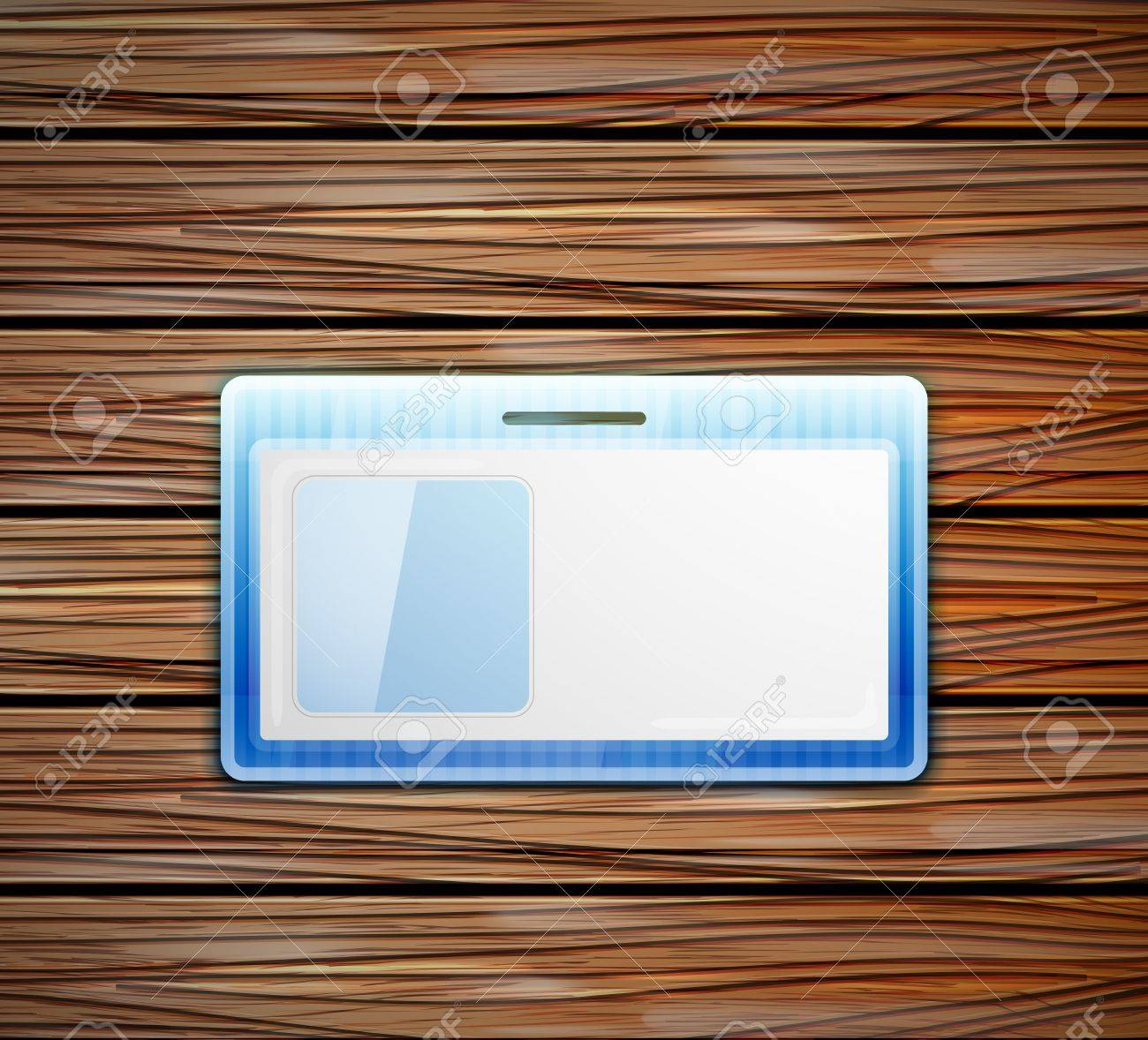empty id card Stock Vector - 14898575
