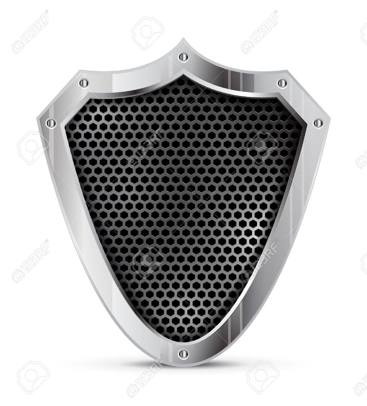 detailed metal shield Stock Vector - 15089106