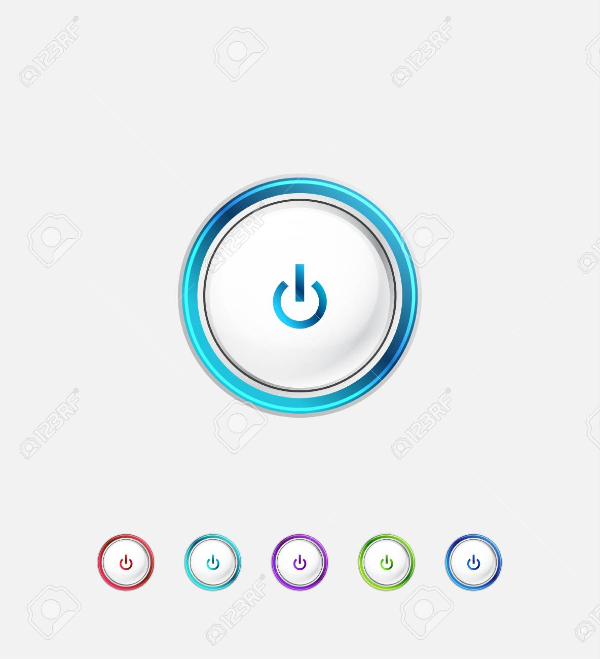 Power button Stock Vector - 15538752