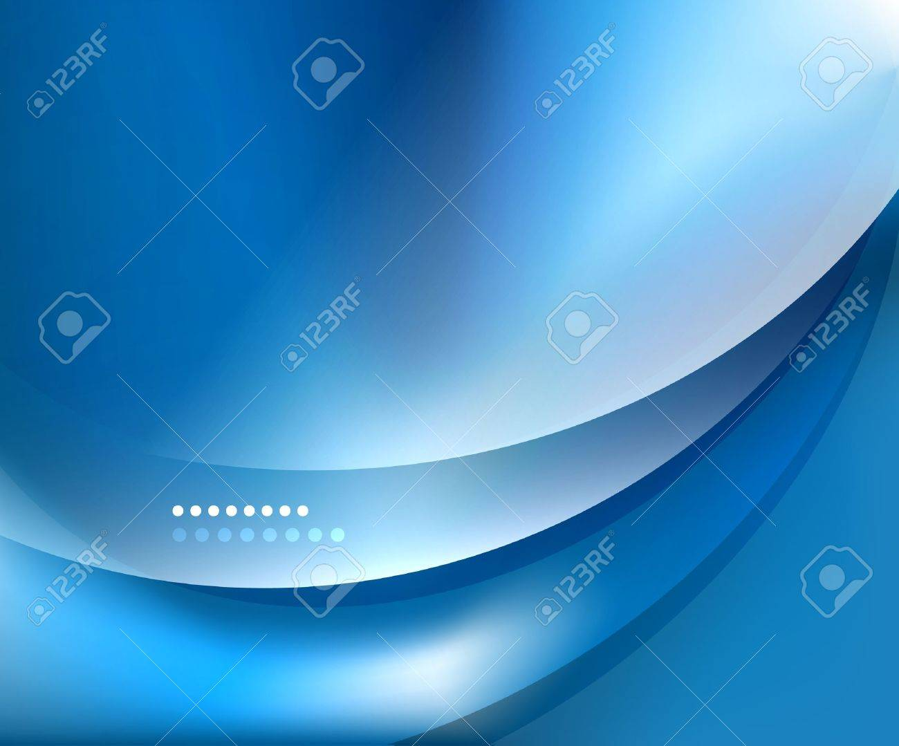 Blue smooth wave template Stock Vector - 15731542