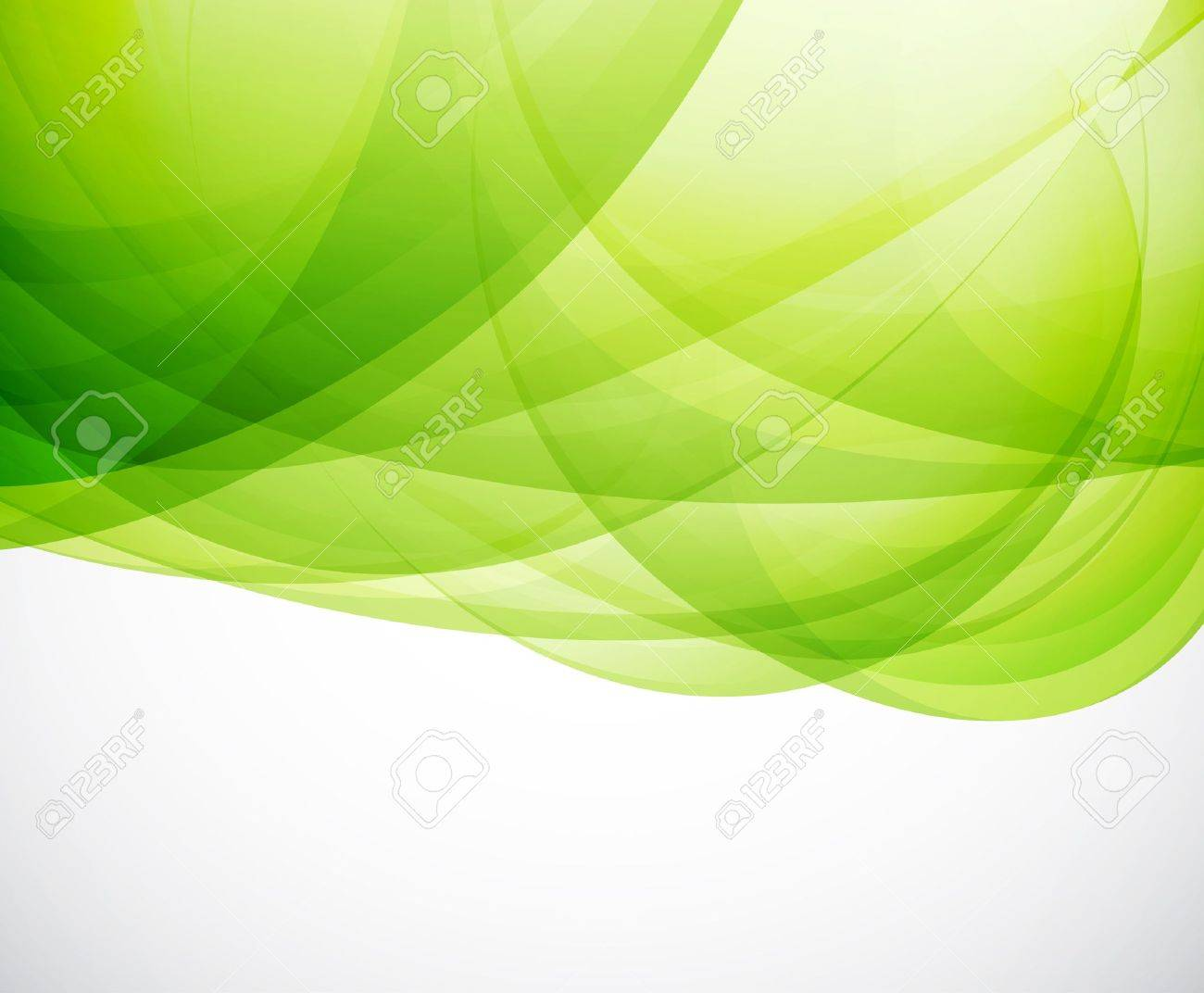 Green eco wave Stock Vector - 15964897