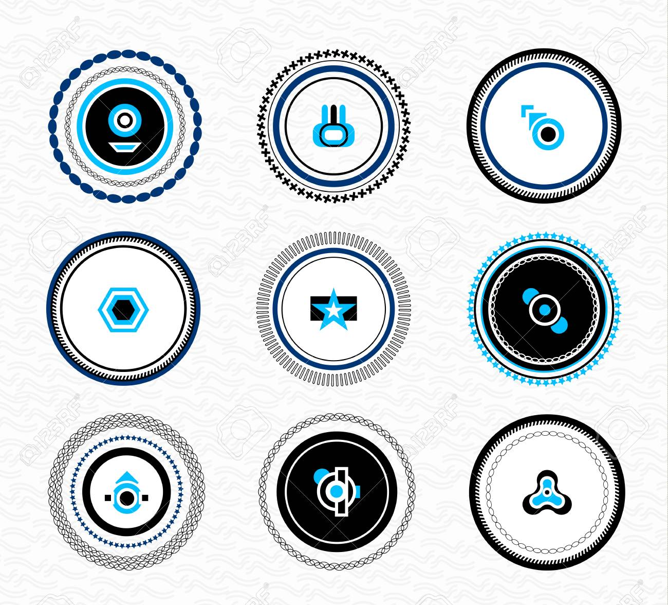 Set of vintage retro labels  abstract business elements Stock Vector - 16811195