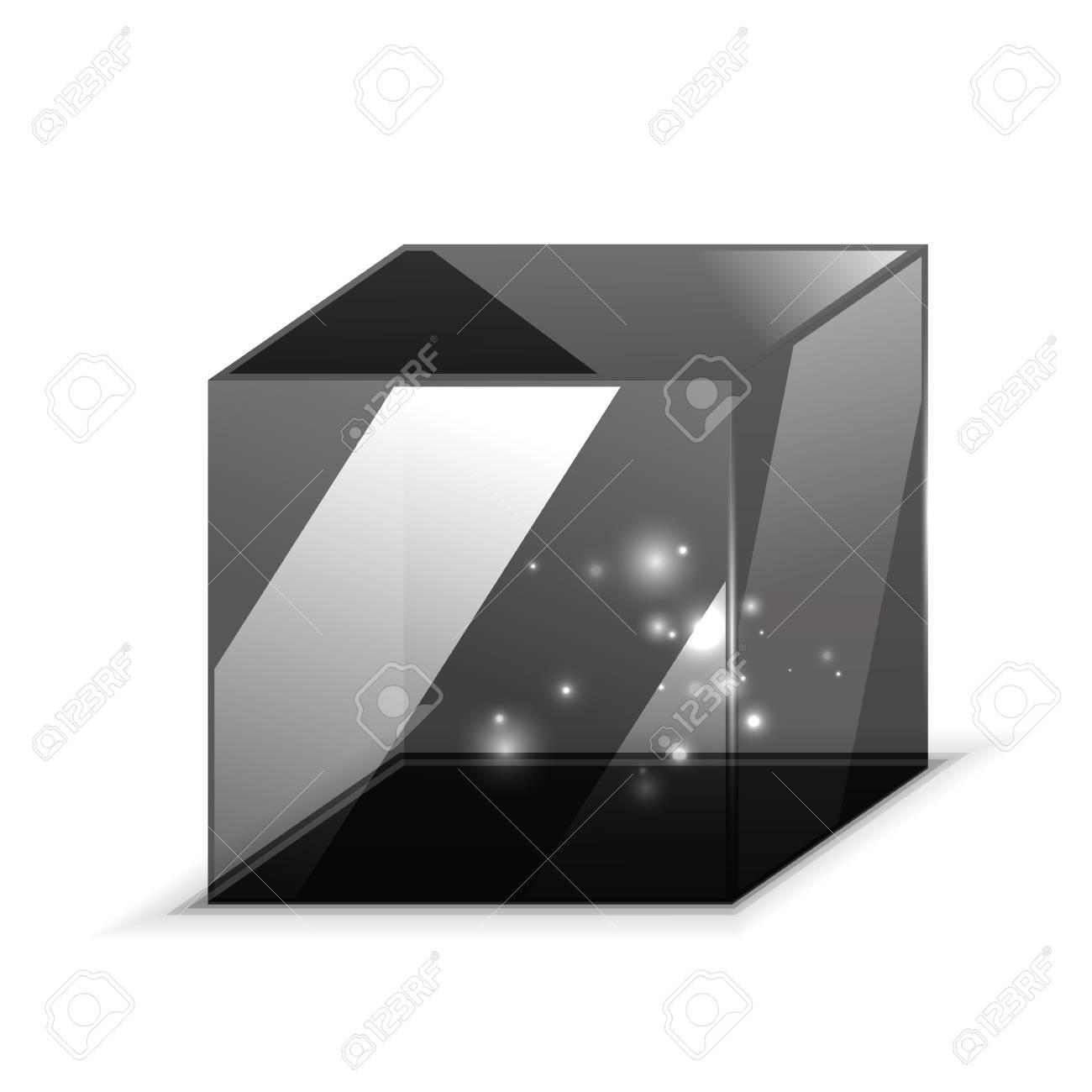 3d Glazen Kubus.3d Glazen Kubus Op Wit Wordt Gea Soleerd