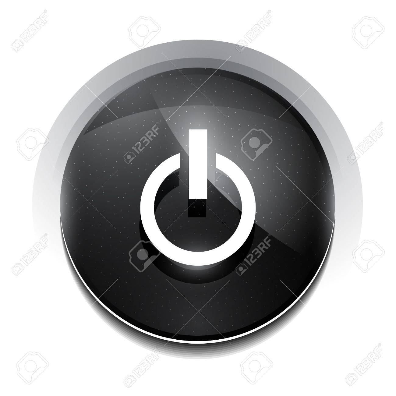 black power button Stock Vector - 18626303