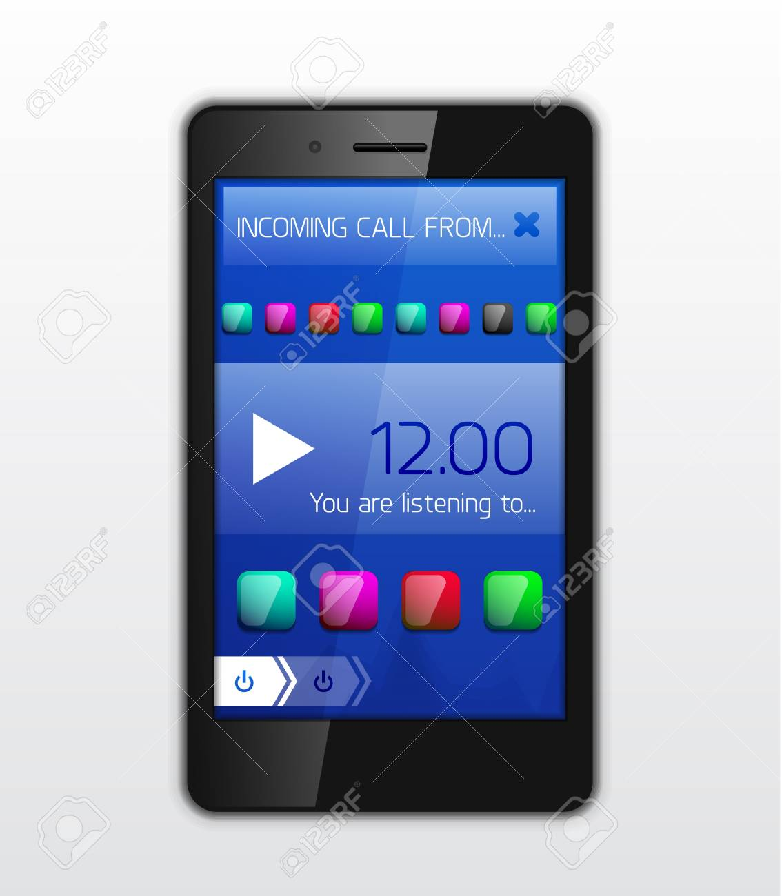 Mobile phone applications vector concept Stock Vector - 18728607