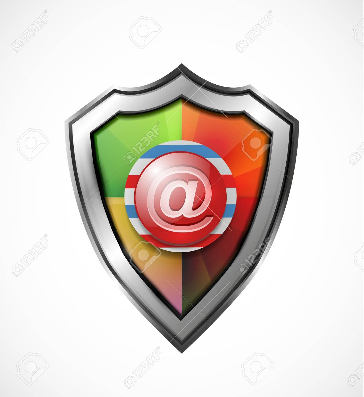Email protection icon   shield Stock Vector - 19263882