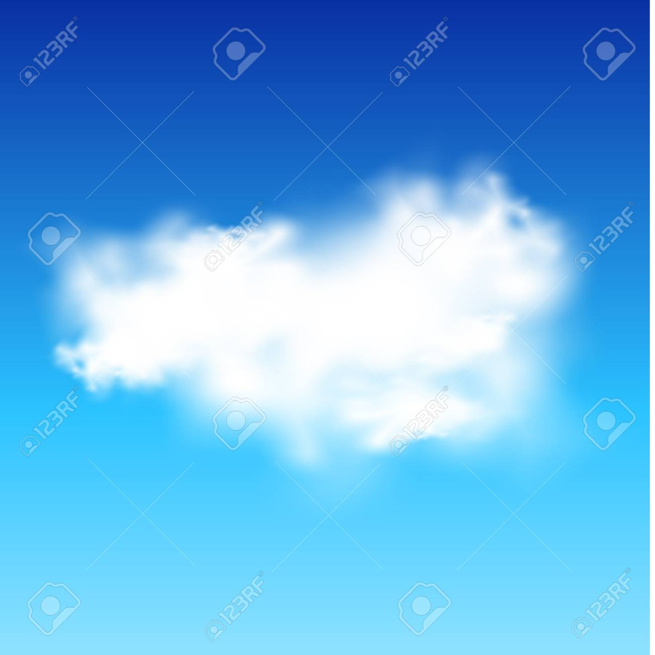 Blue sky and white cloud Stock Vector - 19338233