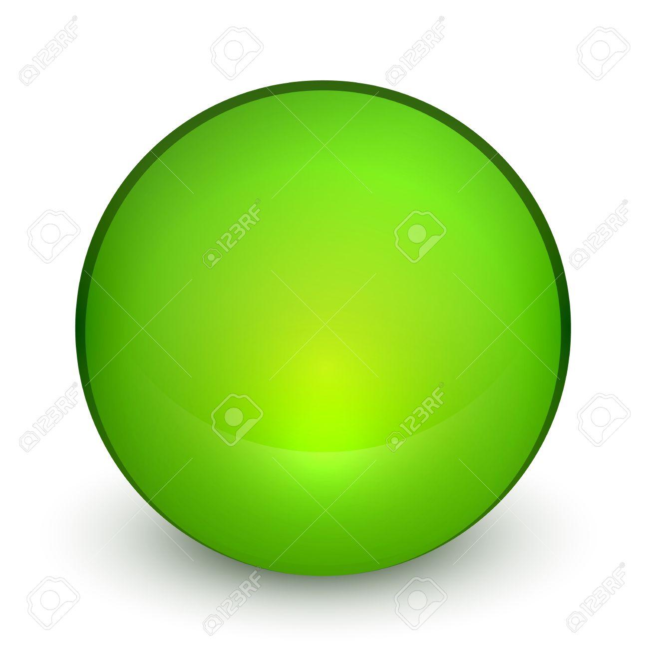 Color matte light sphere button Stock Vector - 19561656